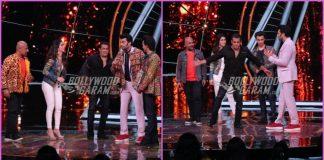 Salman Khan promotes Loveyatri with Aayush Sharma and Warina Hussain on sets of Indian Idol