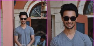 Aayush Sharma visits a temple at Himachal Pradesh