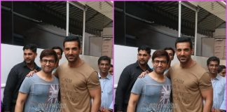 Aamir Khan and John Abraham share a hug as they bump in to each other