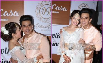 Yuvika Chaudhary and Prince Narula look gorgeous at their Sangeet ceremony