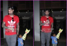 Daniel Weber on a casual outing with daughter Nisha