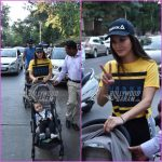 Sunny Leone and Daniel Weber on an evening stroll with kids