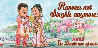 Amul releases poster on Deepika Padukone and Ranveer Singh's wedding