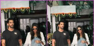 Angad Bedi and Neha Dhupia visit a clinic in Mumbai