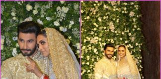 Deepika Padukone and Ranveer Singh pose for pictures at Mumbai wedding reception – Photos