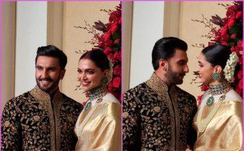 Ranveer Singh and Deepika Padukone make perfect hosts at Bengaluru wedding reception – Photos