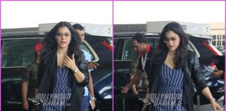 Kajol makes a trendy appearance at airport