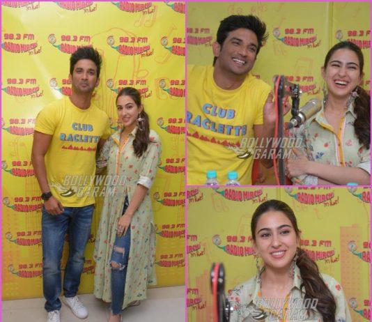 Sushant Singh Rajput and Sara Ali Khan promote Kedarnath at Radio Mirchi