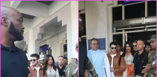 Nick Jonas and Priyanka Chopra greeted by fans and media as they arrive at Jodhpur