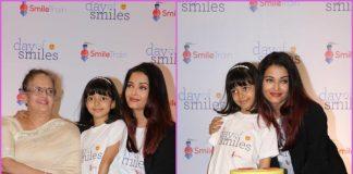 Aishwarya Rai Bachchan graces Smile Train event with daughter Aaradhya