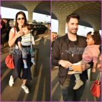Sunny Leone and Daniel Weber looked great with their kids at airport