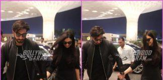 Deepika Padukone and Ranveer Singh twin in black as they head for their honeymoon