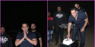 Salman Khan cuts his birthday cake amidst media