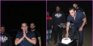 Salman Khan cuts his birthday cake amidst media