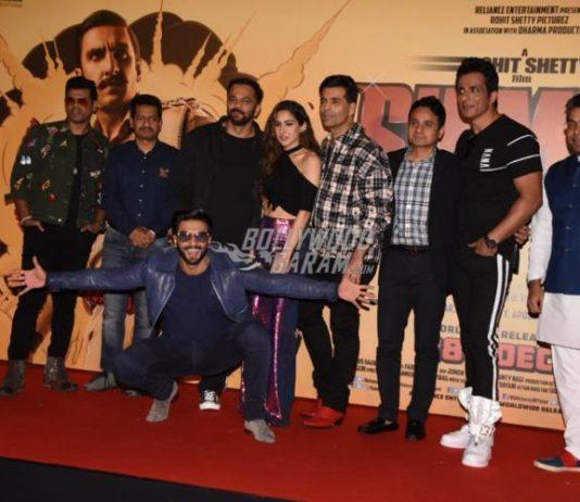 Ranveer Singh and Sara Ali Khan launch official trailer of Simmba