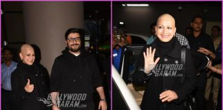 Sonali Bendre returns to Mumbai for a break from cancer treatment