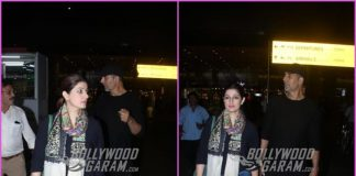Akshay Kumar and Twinkle Khanna looked trendy at airport