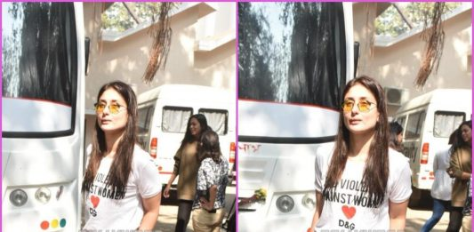 Kareena Kapoor looks trendy as she was clicked by paparazzi at a famous studio