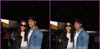 Prateik Babbar and Sanya Sagar return to Mumbai as newly-weds