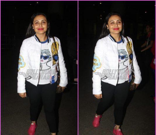 Rani Mukerji looks great in casuals at airport