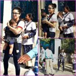 Sunny Leone and Daniel Weber on a casual outing with kids