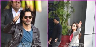 Varun Dhawan and Alia Bhatt make a stylish appearance at a private airport