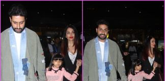 Aishwarya Rai Bachchan and Abhishek Bachchan head back from New Year holiday