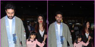 Aishwarya Rai Bachchan and Abhishek Bachchan head back from New Year holiday
