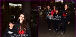 Karisma Kapoor and children return from New Year celebrations in Dubai