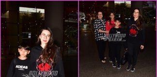 Karisma Kapoor and children return from New Year celebrations in Dubai
