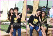 Kriti Sanon and Kartik Aryan promote Luka Chuppi in Mumbai