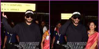 Ranveer Singh looks dapper as he returns to Mumbai