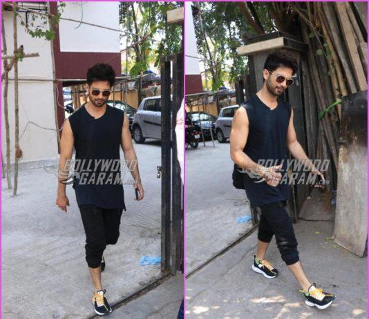 Shahid Kapoor looks dapper outside gym