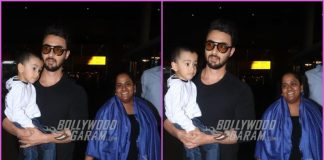 Aayush Sharma looks dapper at airport with son Ahil and wife Arpita Khan