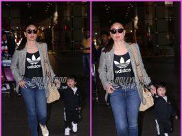 Kareena Kapoor and Taimur Ali Khan at their stylish best at Mumbai airport