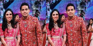 Akash Ambani and Shloka Mehta look ethereal at their wedding reception