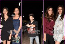 Kriti Sanon and Kartik Aryan grace Luka Chupi screening event with families