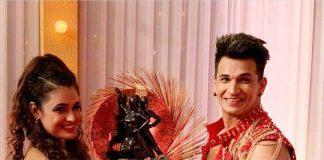 Prince Narula and Yuvika Chaudhary lift the winning trophy on Nach Baliye 9