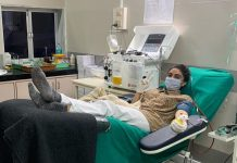 Zoa Morani donates plasma for second time