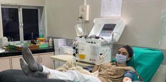 Zoa Morani donates plasma for second time
