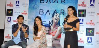 Katrina Kaif and Sidharth Malhotra promotes Baar Baar Dekho at Ahmedabad