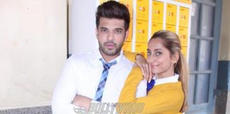 Anusha Dandekar and Karan Kundra shoot for MTV Love School