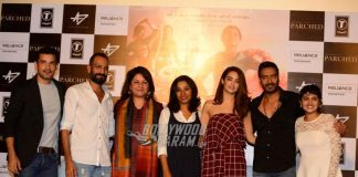 Ajay Devgn, Surveen Chawla and Tannishtha Chatterjee launch Parched trailer
