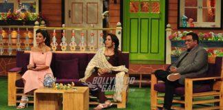 Shilpa Shetty, Anurag  Basu and Geeta Kapur promote Super Dancer on The Kapil Sharma Show