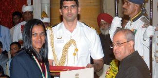 PV Sindhu, Sakshi Malik and Dipa Karmarkar receive Khel Ratna Awards